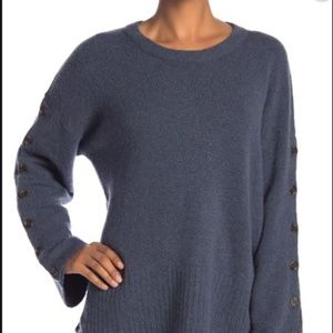Madewell Button Sleeve Pullover Sweater - Medium